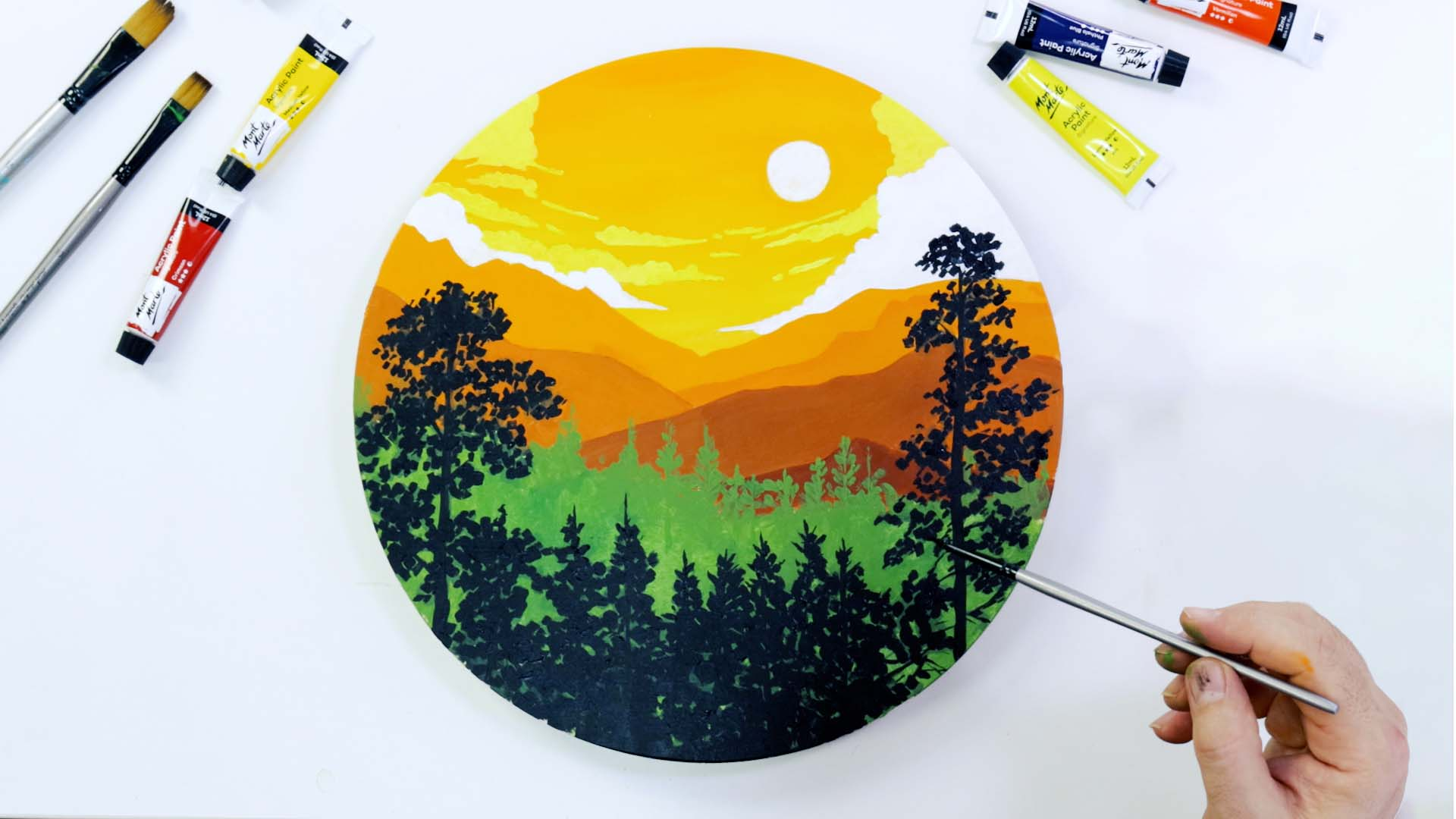 Paint an easy landscape with acrylics
