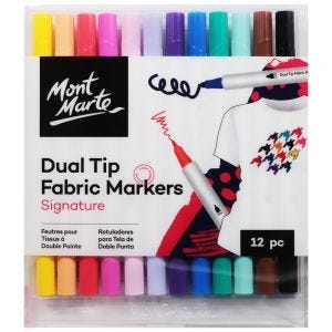 Dual Tip Fabric Markers Signature 12pc