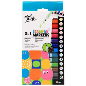 2 in 1 Stamper Markers 14pc