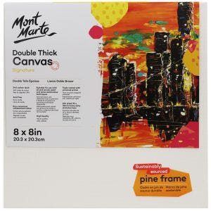 Canvas Double Thick Signature 20.3 x 20.3cm (8 x 8in)