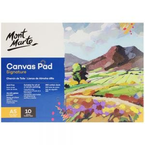 Canvas Pad 10 Signature Sheet A5 (5.8 x 8.3in)