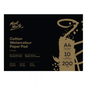Cotton Watercolour Paper Artiste 200gsm A4 (11.7 x 8.3in) 10 Sheets