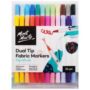 Dual Tip Fabric Markers Signature 24pc