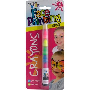 Kids Face Painting Crayons - Neon