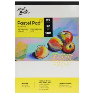 Pastel Pad 4 colours Signature 180gsm 12 Sheet A4 210 x 297mm (8.3 x 11.7in)