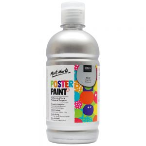Poster Paint 500ml (16.91oz) - Silver