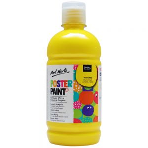 Poster Paint 500ml (16.91oz) - Yellow Mid