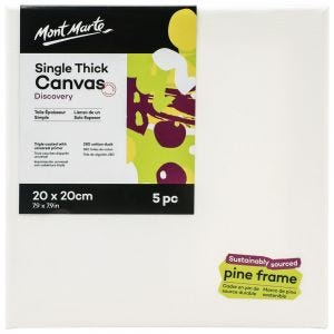 Single Thick Canvas Discovery 20 x 20cm (7.9in) 5pc