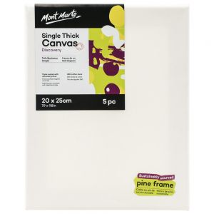 Single Thick Canvas Discovery 20 x 25cm (7.9 x 9.8in) 5pc
