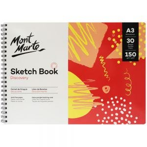 Sketch Book Discovery A3 (11.7 x 16.5in) 30 Sheets 150gsm