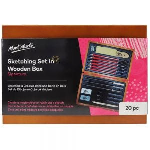 Sketching Set in Wooden Box Signature 21pc