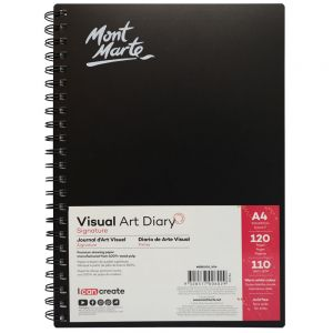 Visual Art Diary Signature 110gsm A4 120 Page