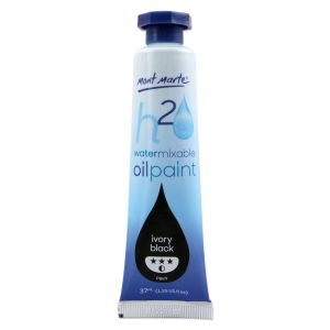 Water Mixable Oil Paint 37ml (1.25oz) - Ivory Black