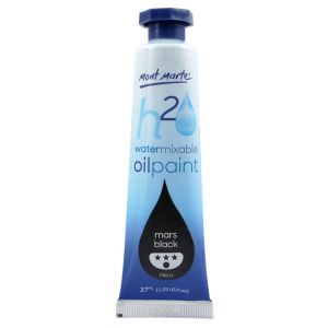Water Mixable Oil Paint 37ml (1.25oz) - Mars Black