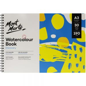 Watercolour Book Discovery A3 (11.7 x 16.5in) 30 Sheets 190gsm