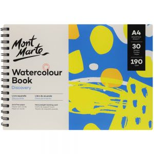 Watercolour Book Discovery A4 (8.3 x 11.7in) 30 Sheets 190gsm