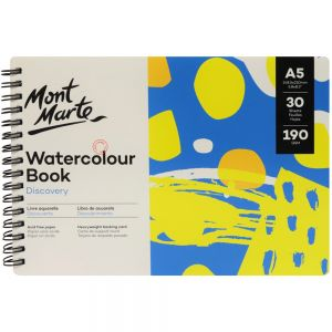Watercolour Book Discovery A5 (5.8 x 8.3in) 30 Sheets 190gsm