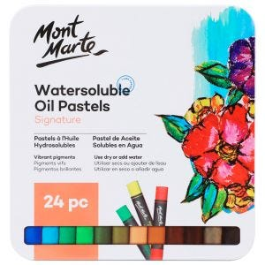 Watersoluble Oil Pastels in Tin Box Signature 24pc