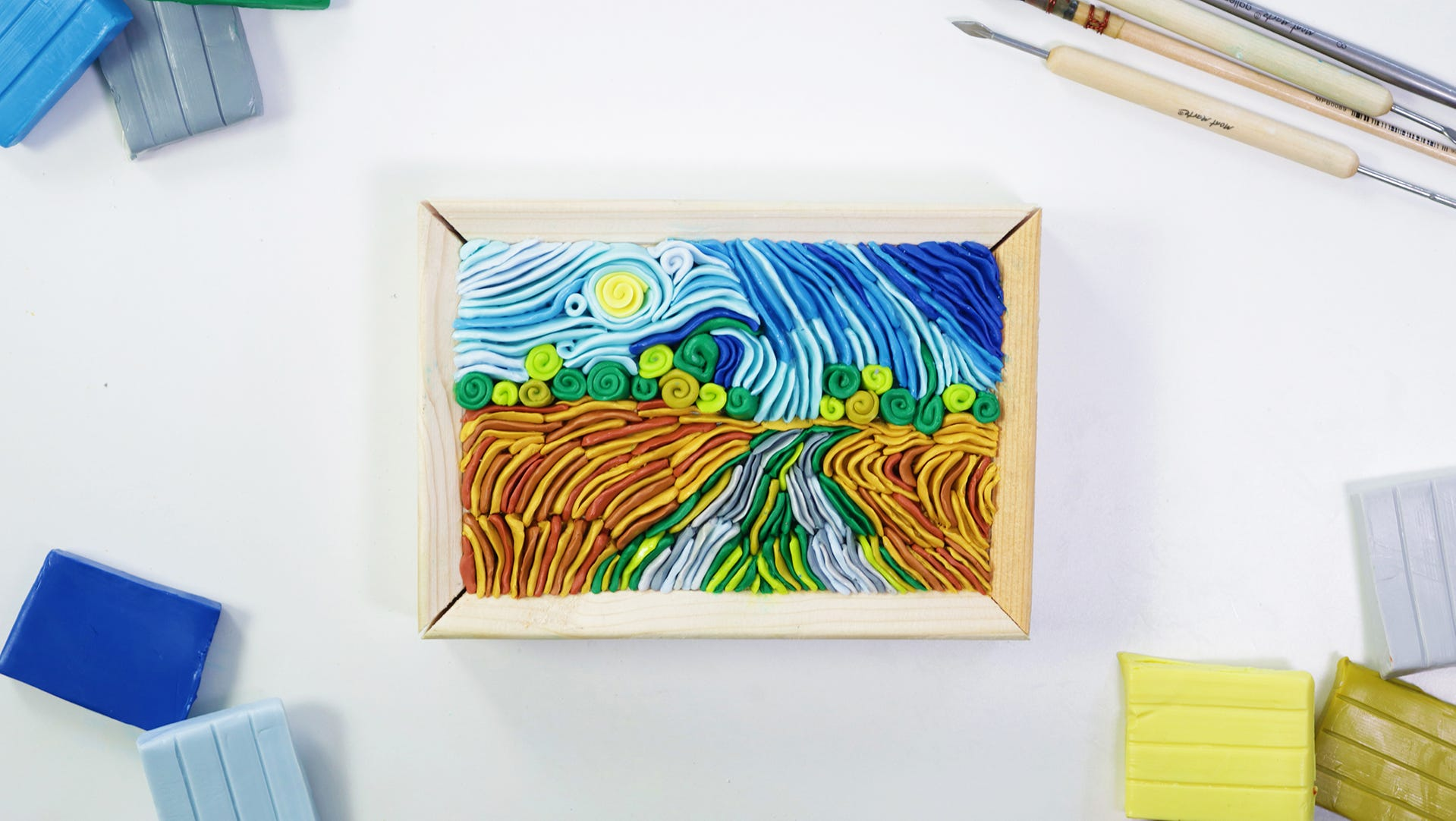 Create a Van Gogh Inspired Landscape with Polymer Clay